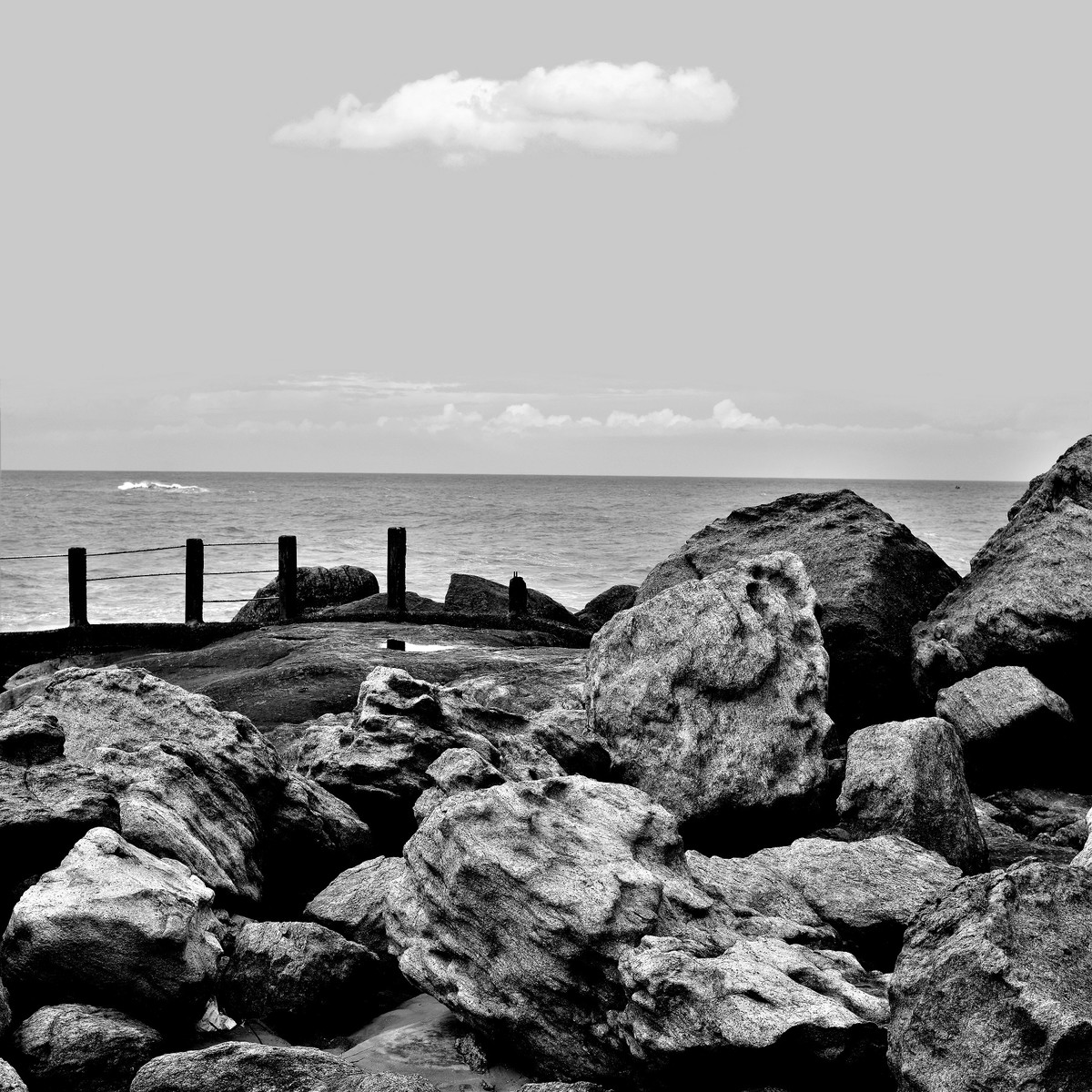 Rocky V by M. Shafiq, Image Photography, Digital Print on Archival Paper, Gray color