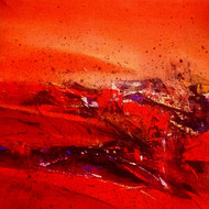 RED-19 by Dnyaneshwar Dhavale , Abstract Painting, Acrylic on Canvas, Red color