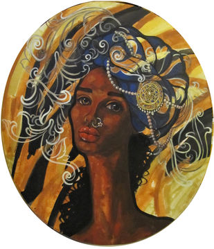 I contemplate by Suruchi Jamkar, Expressionism Painting, Acrylic on Canvas, Brown color