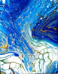 Effect 2 by kakali sanyal, Abstract Painting, Acrylic on Canvas, Blue color