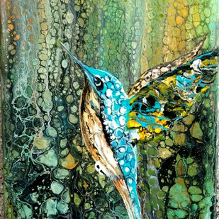 Bird Digital Print by kakali sanyal,Abstract