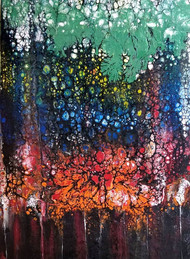Forest 1 by kakali sanyal, Abstract Painting, Acrylic on Canvas, Brown color