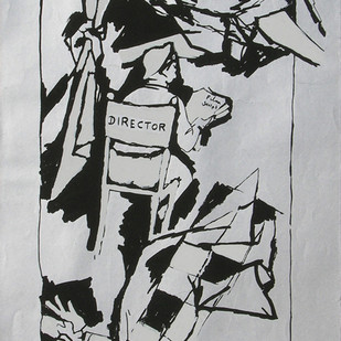 Yeh kaun sa modh hai umar ka - X by M F Husain, Illustration Printmaking, Serigraph on Paper, Gray color