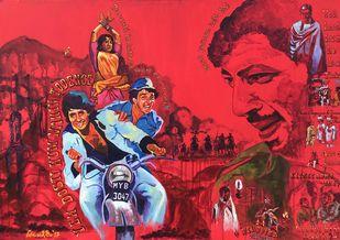 And Gabbar Laughed Digital Print by Anukta M Ghosh,Pop Art