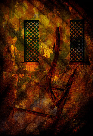 Abstract-I by Mayurakshi, Digital Painting, Mixed Media on Canvas, Brown color