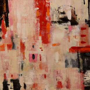 flake white by Gita Hudson, Abstract Painting, Oil on Canvas, Brown color