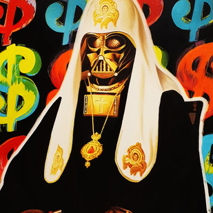 DARTH VADER by Sanuj Birla, Pop Art Painting, Oil on Canvas, Brown color