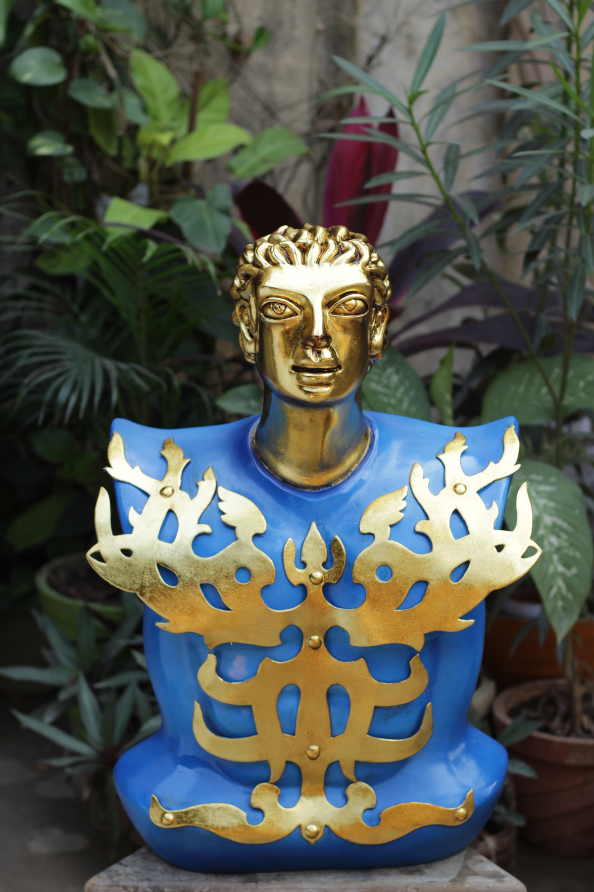 Krishna by Shivarama Chary. Y, Art Deco Sculpture | 3D, Fiber Glass, Green color