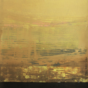 FROM STELLAR MEMORY 21 by V .Hariraam , Abstract Painting, Acrylic on Paper, Beige color