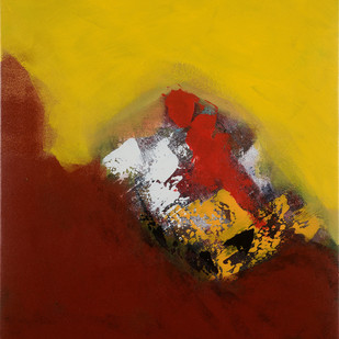 seasons unlimited 21 by Sadhana Raddi, Abstract Painting, Acrylic & Graphite on Canvas, Brown color