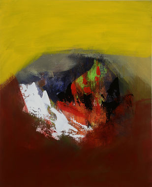seasons unlimited 24 by Sadhana Raddi, Abstract Painting, Acrylic & Graphite on Canvas, Brown color
