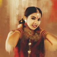Graceful indian girl signed up