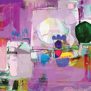 Untitled by Sunil Balkawade, Abstract Painting, Mixed Media on Canvas, Purple color