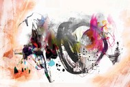 Untitled by Sunil Balkawade, Abstract Painting, Mixed Media on Canvas, Beige color