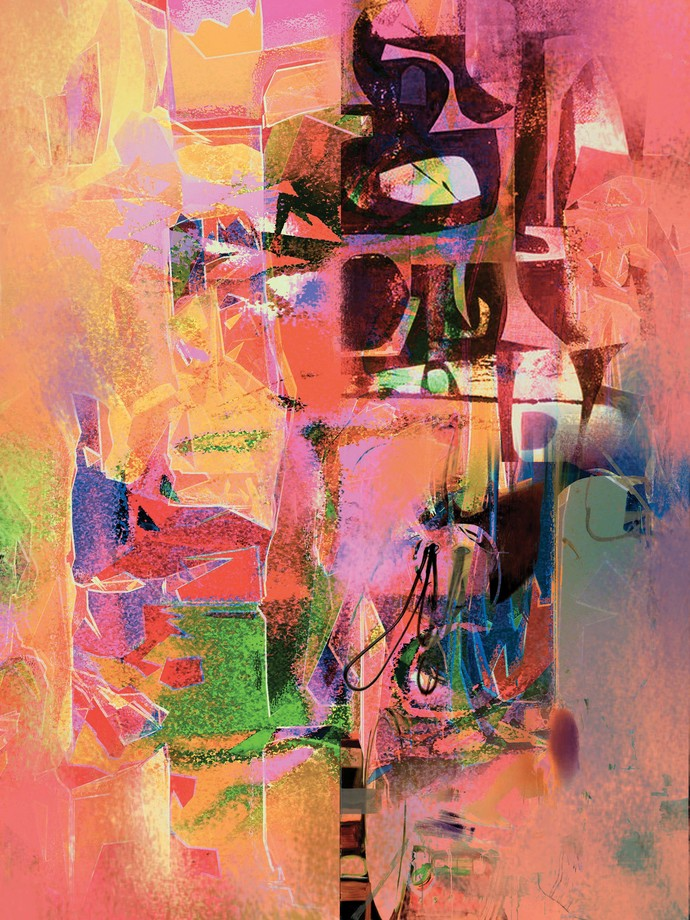 Untitled by Sunil Balkawade, Abstract Painting, Mixed Media on Canvas, Brown color