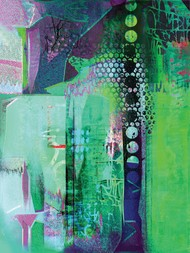 Untitled by Sunil Balkawade, Abstract Painting, Mixed Media on Canvas, Green color