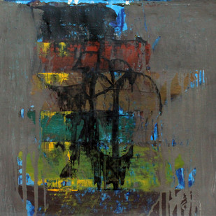 Untitled by Prabhakar Kolte, Abstract Painting, Acrylic on Paper, Gray color