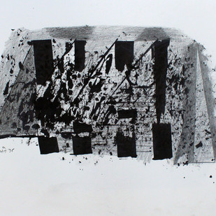 untitled by Prabhakar Kolte, Illustration Painting, Ink on Paper, Gray color