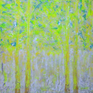 soul tree : effulgence by Cheena Madan, Decorative Painting, Acrylic on Canvas, Green color