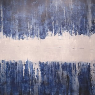Amrutum-1 by Gunjan Shrivastava, Abstract Painting, Acrylic on Canvas, Blue color