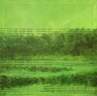 Avani-1 by Gunjan Shrivastava, Abstract Painting, Oil on Canvas, Green color