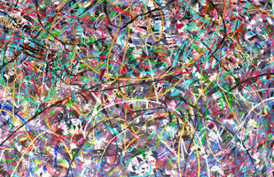 Aerial View of War Field by Roshni Tosher H, Abstract Painting, Acrylic on Canvas, Brown color