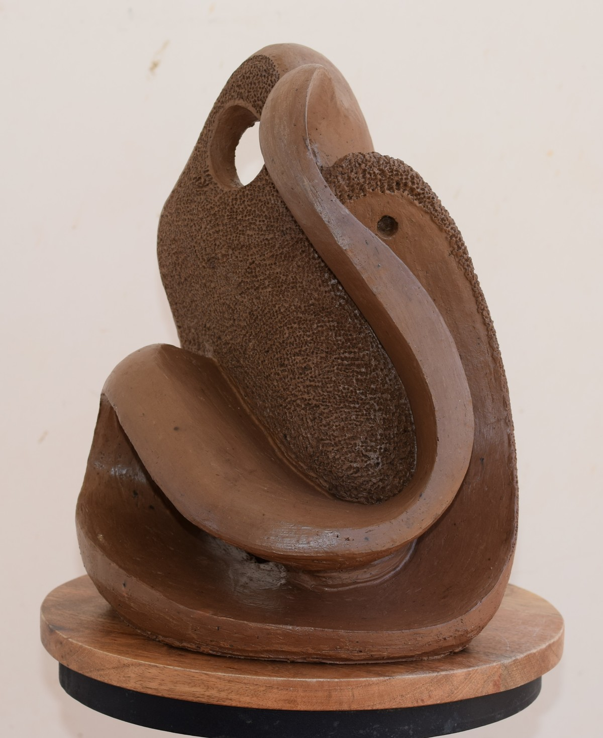 """Prakruti"" The Wave of Nature by Aarti Gupta Bhadauria, Art Deco Sculpture 