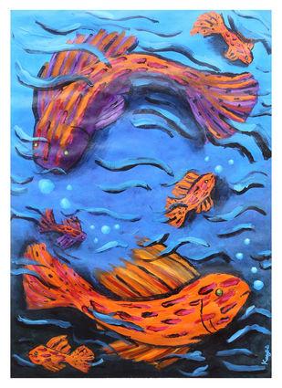 Infinite movement Digital Print by Kavya vyas ,Expressionism