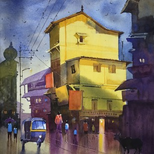 After Rain Digital Print by Sohel Sayyad ,Impressionism