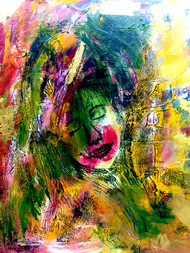 Dreams by Geetu Navin Kalani, Expressionism Painting, Mixed Media on Canvas, Green color