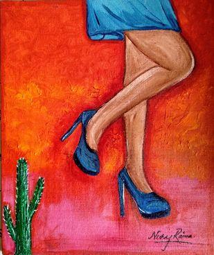 Thorny Legs Digital Print by Neeraj Raina,Expressionism