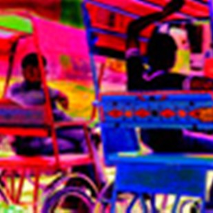 Intezar mein by Karan Khanna, Image Photography, Oil on Canvas, Purple color