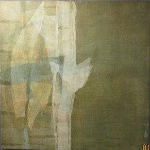 Untitled by Manish Pushkale, Abstract Painting, Oil on Canvas, Beige color
