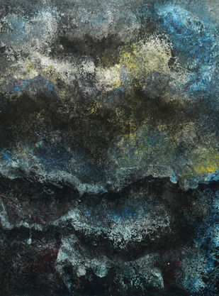 TUMULT by Mudit Rastogi, Abstract Painting, Oil on Canvas, Gray color