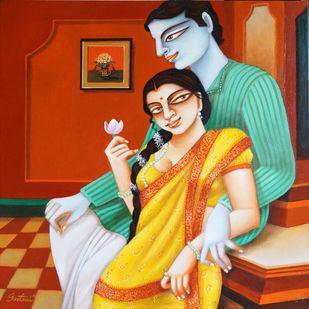 Couple Digital Print by Gautam Mukherjee,Expressionism
