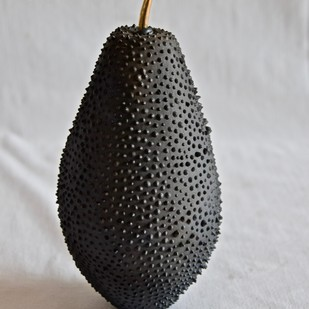Fruit, the womb of creation 4 - the noir series by Shweta Mansingka, Art Deco Sculpture | 3D, Ceramic, Gray color