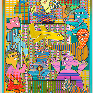 love is what we do Digital Print by pranav sood,Expressionism