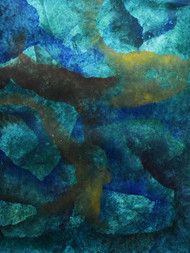 Pelagic by Mudit Rastogi, Abstract Painting, Oil on Canvas, Green color