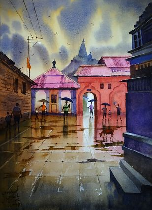 Monsoon memories Digital Print by Sohel Sayyad ,Impressionism