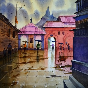 Monsoon memories Digital Print by Sohel Sayyad ,Impressionism