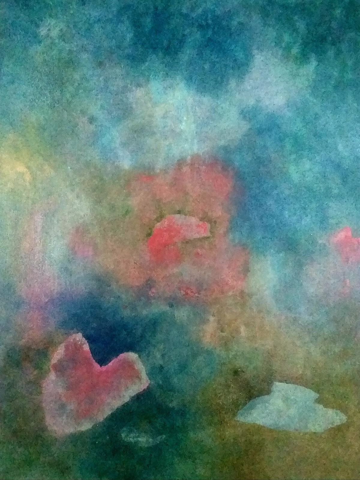 Careen by Mudit Rastogi, Abstract Painting, Oil on Canvas, Green color