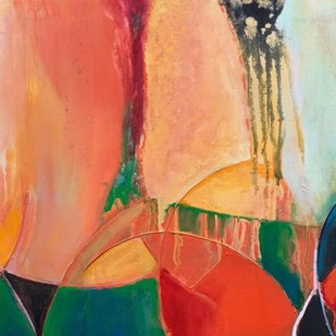 flow of life NV1 by Nandini, Abstract Painting, Acrylic on Canvas, Brown color