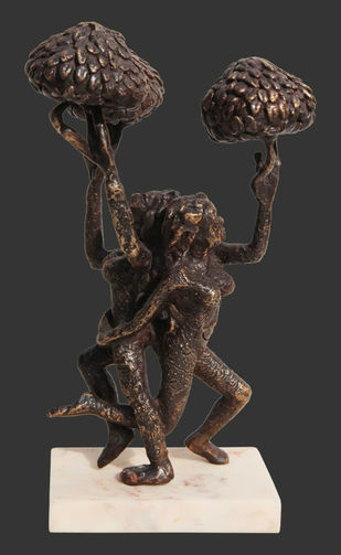"The Tree of Life, Bronze Sculpture, Brown by Indian Artist ""In Stock"" by Seema Kohli, Expressionism Sculpture 