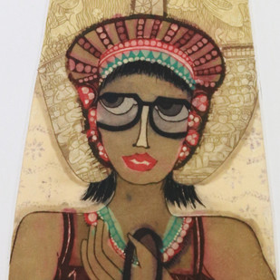 Untitled by Sonal Varshneya, Expressionism Printmaking, Etching on Paper, Brown color