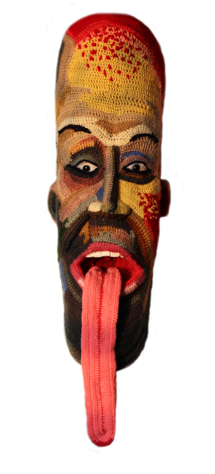 Face 22 by Archana Rajguru, Art Deco Sculpture | 3D, Mixed Media, White color