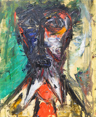 untitle by Vikash Kalra, Expressionism Painting, Oil on Canvas, Brown color