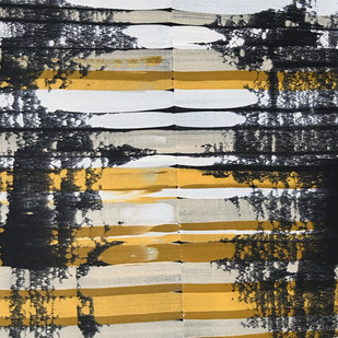 Carabrass by Sumit Mehndiratta, Abstract Painting, Acrylic on Canvas, Gray color