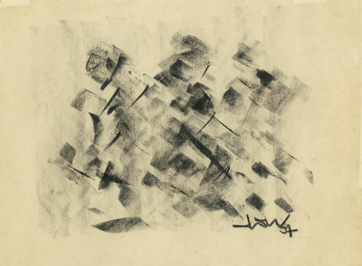 Women in Haat by Ram Divakar, Illustration Drawing, Oil Pastel on Paper, Beige color