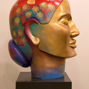 Prakriti-III by Shampa Sircar Das, Expressionism Sculpture | 3D, Fiber Glass, Brown color