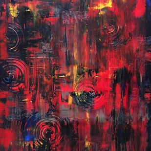 fire of heart Digital Print by shelja,Abstract